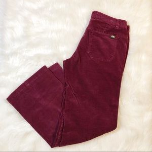 The North Face maroon corduroy pants 10 women's